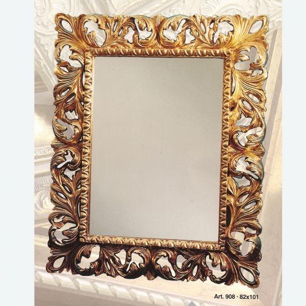 Specchiere specchiera rettangolare traforata vendita - Specchiere on line ...
