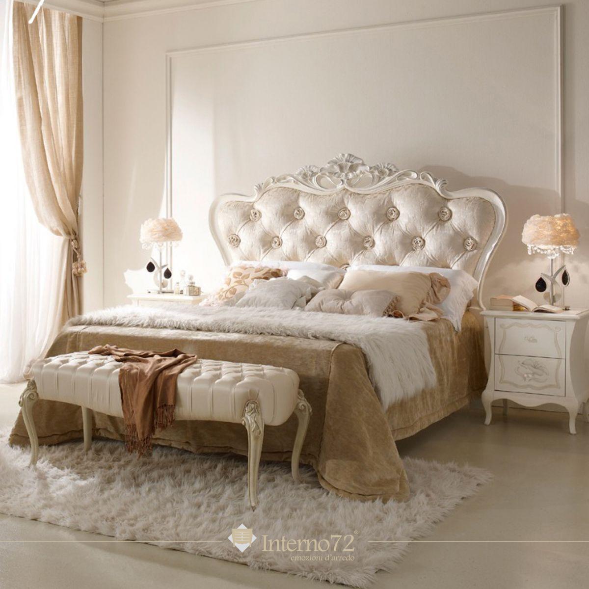 Letti classici letto curvato e intagliato mod regina di - Spalliere letto in legno ...