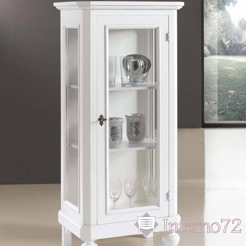 vetrina a colonna bianca lucida : vetrina 1 anta a vetri modello kryzia vetrina 1 anta a vetri fianchi e ...