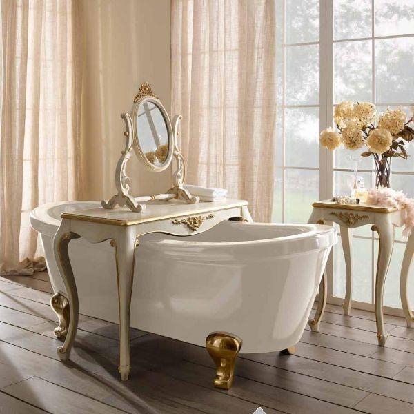 Arredobagno > vasca da bagno in legno massello modello perla ...