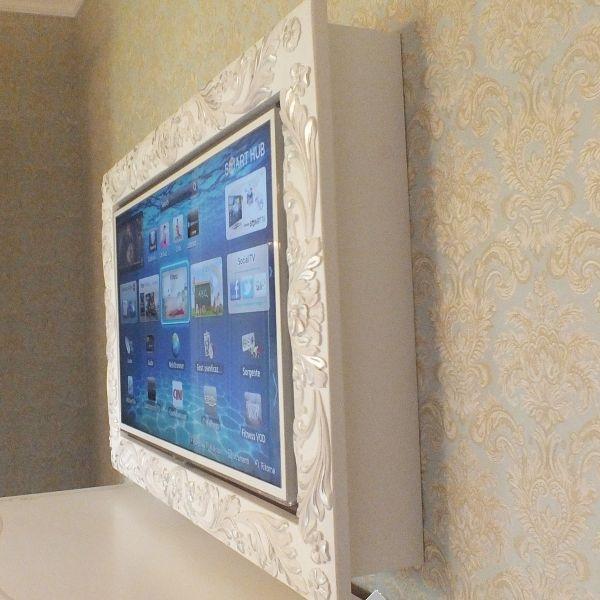 Specchiere cornice in legno mod flower vendita online for Cornice bianca foto