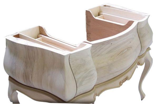 Mobili bagno grezzi | Mobile bagno grezzo bombato cod.10 - vendita ...